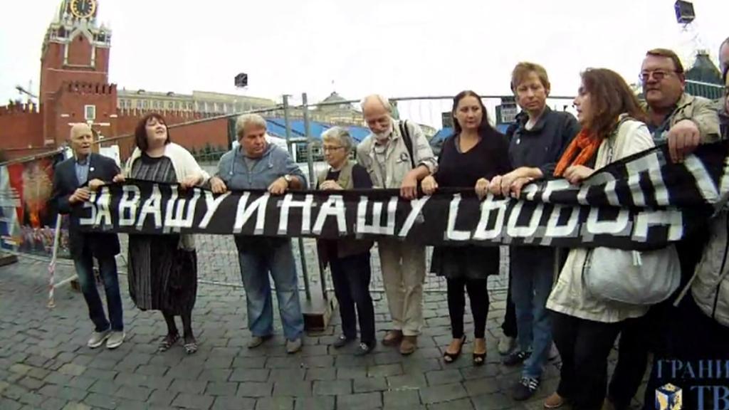 Desítka lidí si na Rudém náměstí připomněla rok 1968