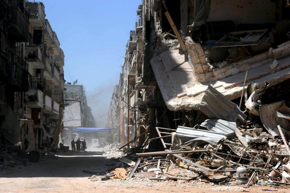 Následky bojů v Sýrii