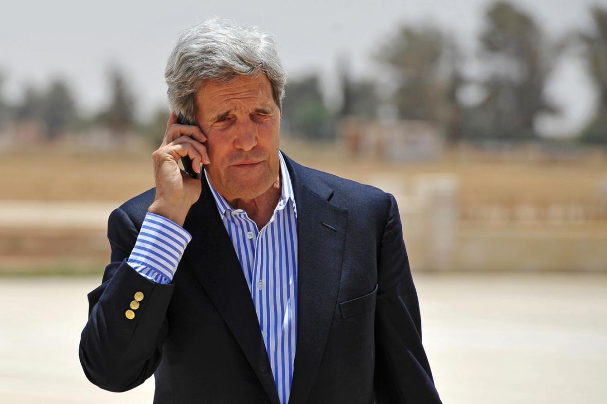 John Kerry na návštěvě Blízkého východu