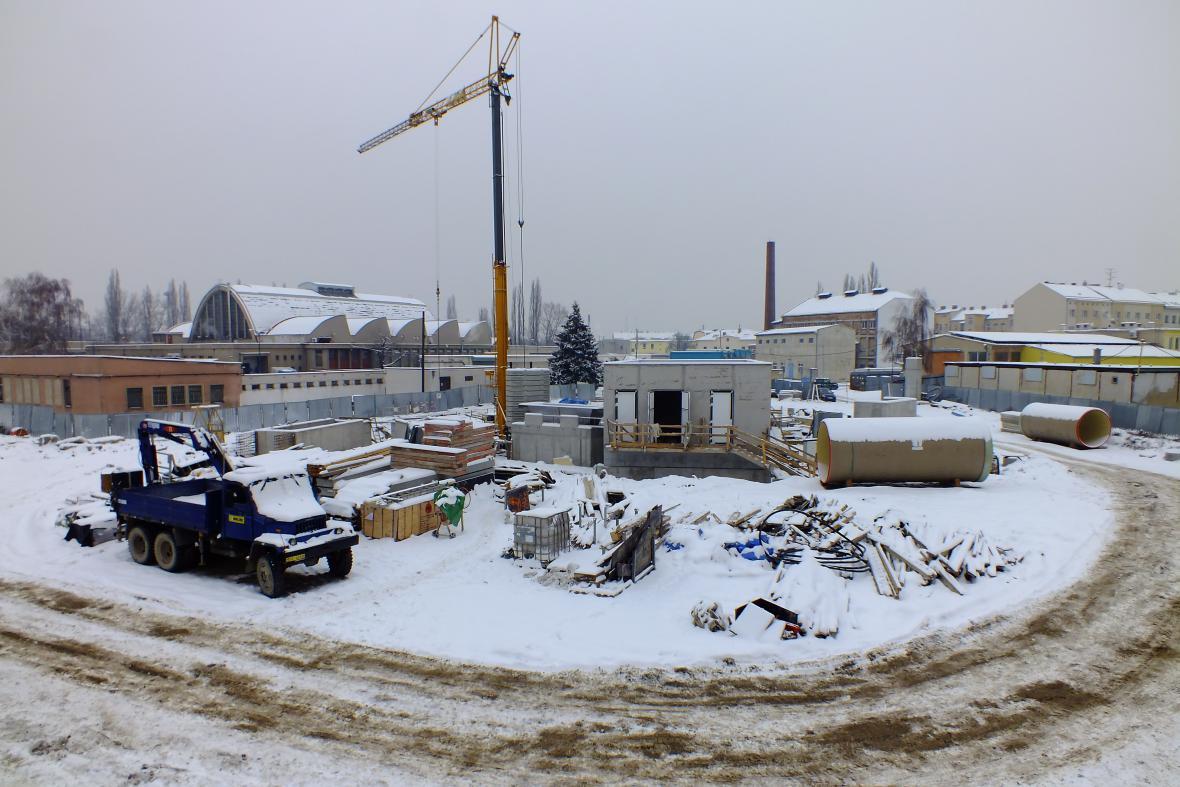 Stavba retenční nádrže v Jeneweinově ulici