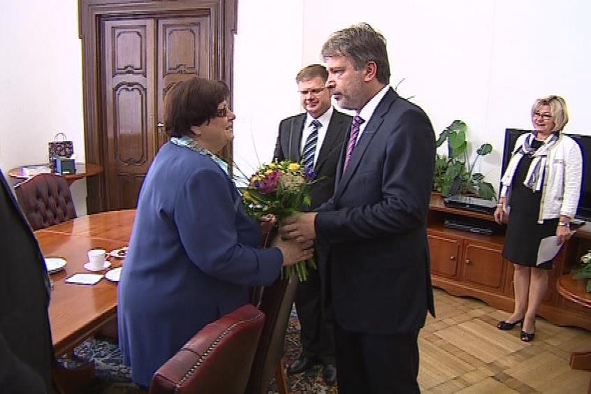 Jednání Marie Benešové s primátorem Romanem Onderkou