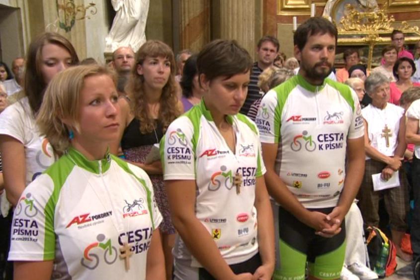 Cyklopoutníci si svojí cestou připomenuli Cyrila a Metoděje