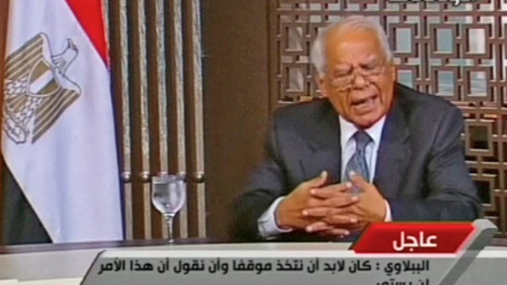 Prozatímní egyptský premiér Házim Bibláví