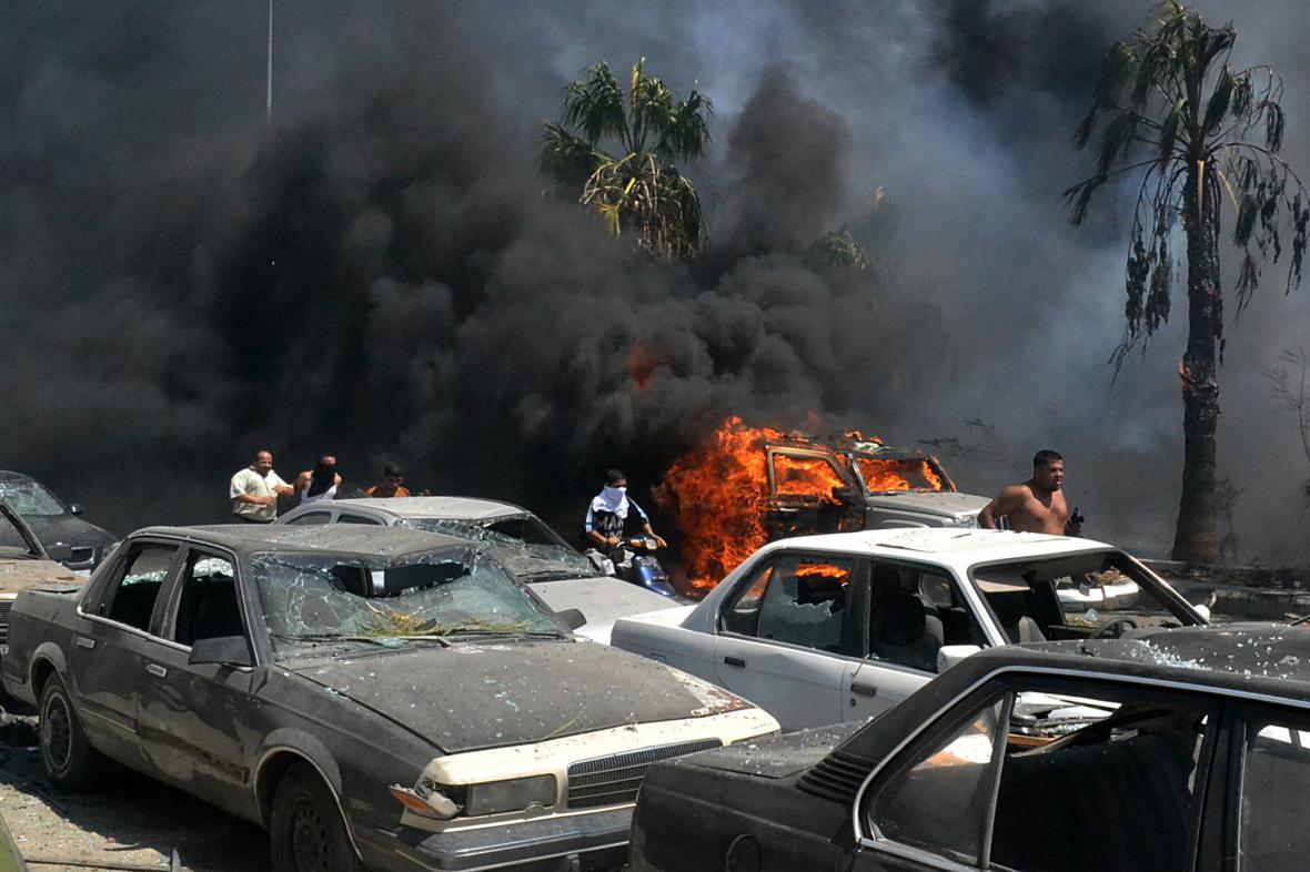 Výbuchy v libanonském Tripolisu