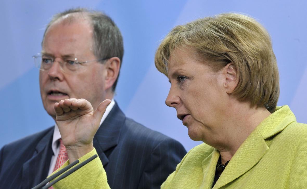 Angela Merkelová a Peer Steinbrück