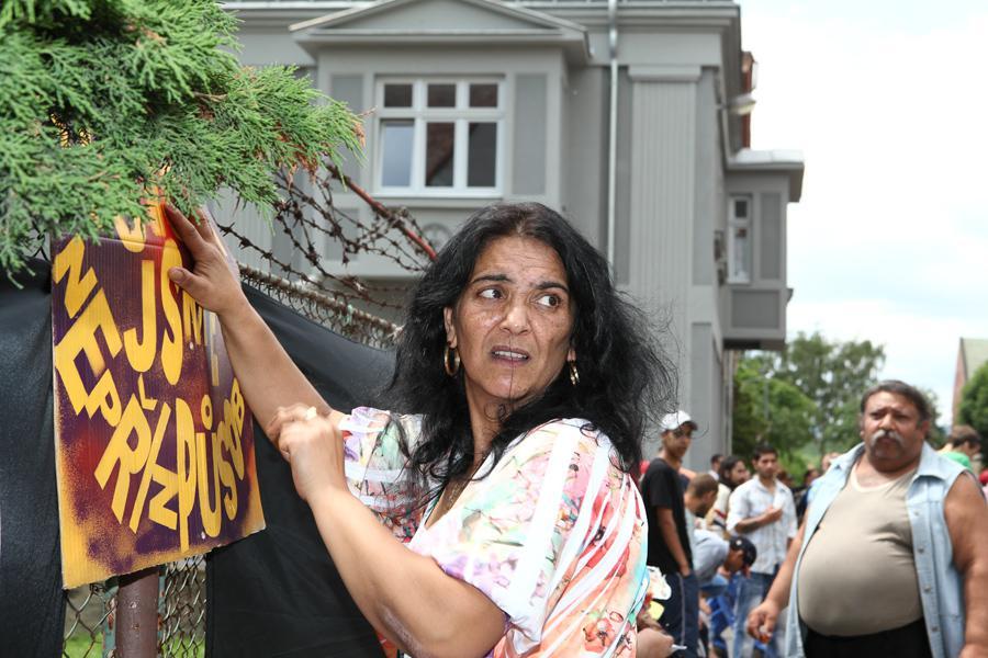 Shromáždění Romů v Duchcově