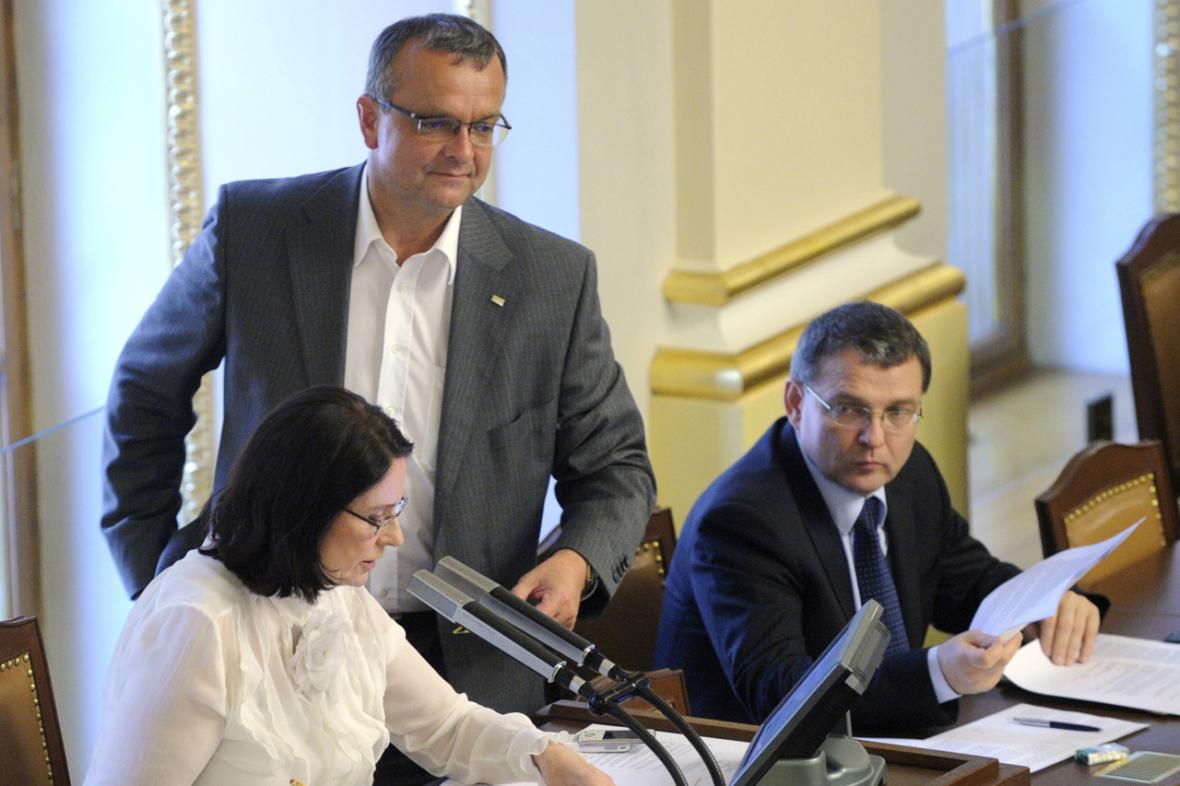 Miroslav Kalousek a Miroslava Němcová