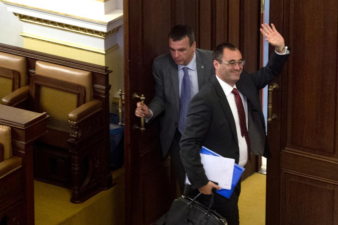 Boris Šťastný ve sněmovně