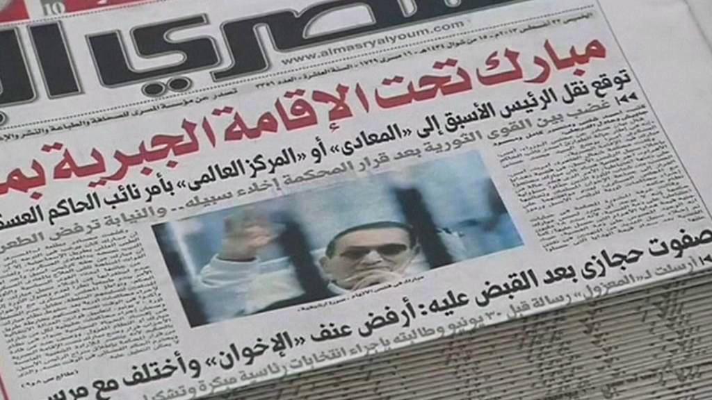 Egyptský tisk o propuštění Mubaraka z vazby