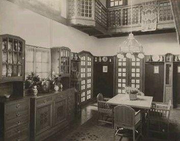 Původní vybavení haly v Jurkovičově vile