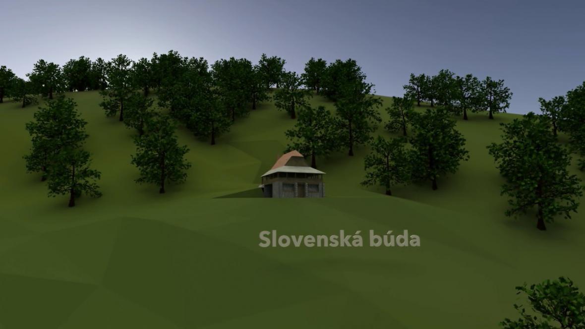 Vizualizace Jurkovičových Luhačovic