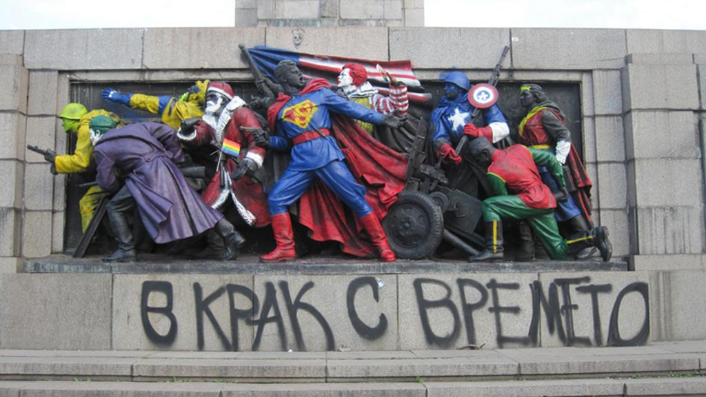 Památník sovětské armády v Sofii nebyl přebarven poprvé
