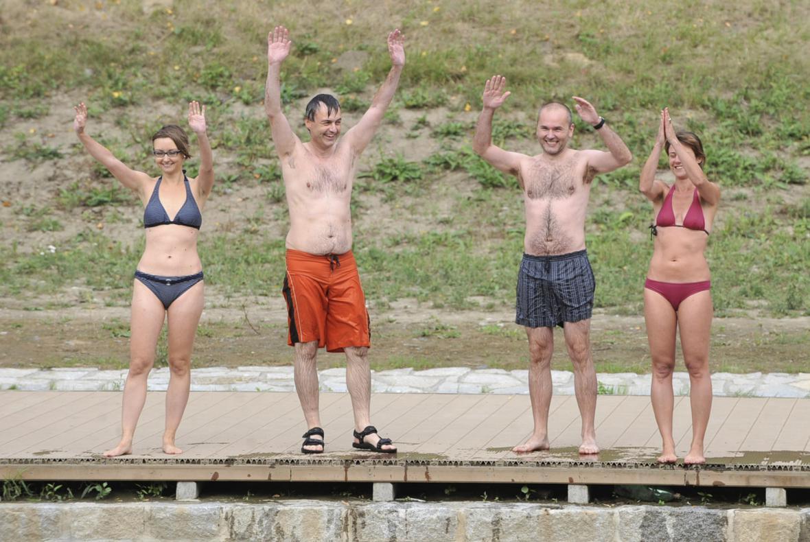 Happening upozornil na špatnou kvalitu vody v řece Ostravici