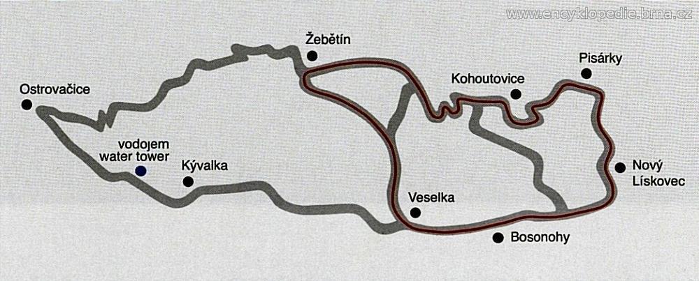 Masarykův okruh v letech 1949 - 1963