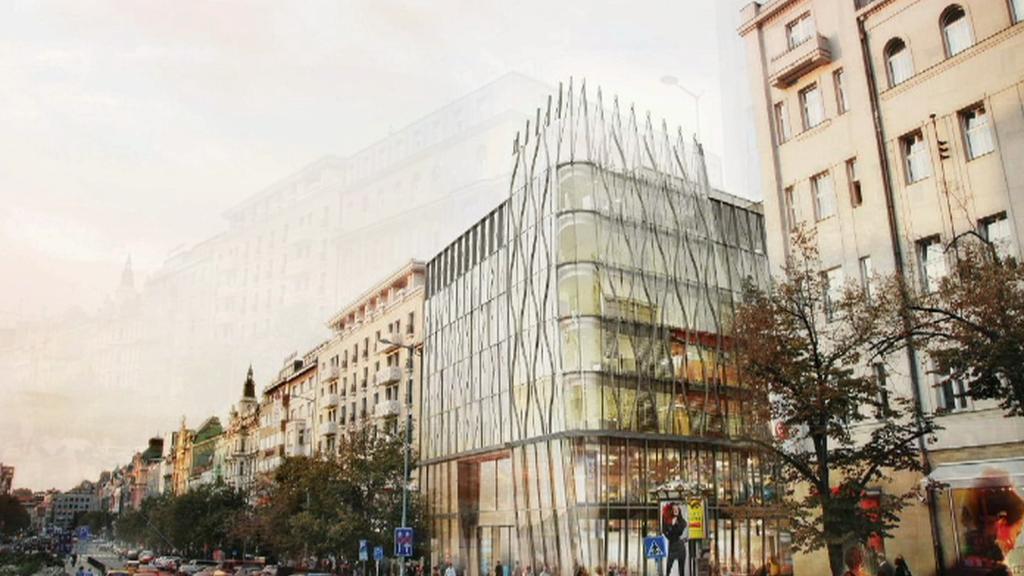 Vizualizace novostavby na Václavském náměstí
