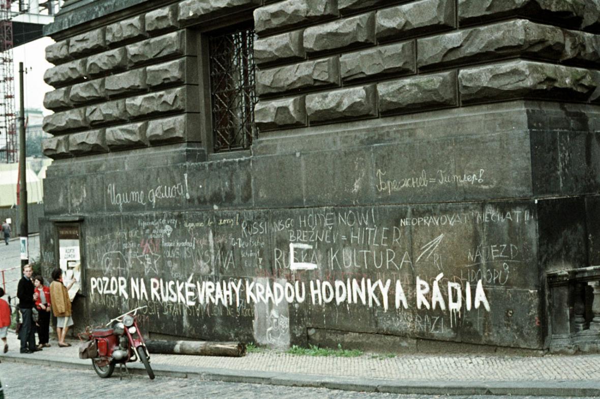 Srpen 1968 na Václavském náměstí