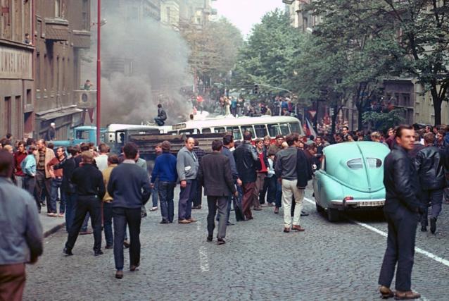 Srpen 1968 v Praze (Italská ulice)