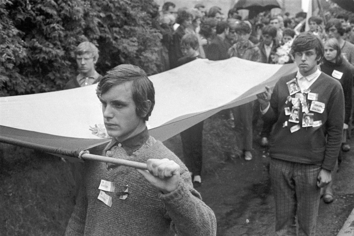 Srpen 1968 - pohřeb