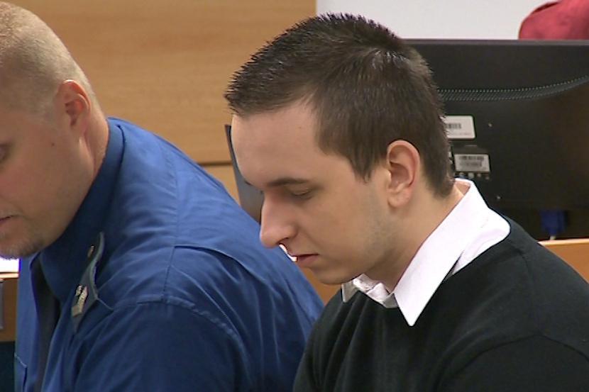 Před soudem stanul i dvaadvacetiletý David Šimon