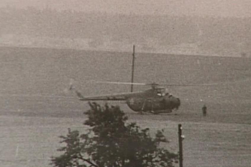 Nad vysílačem Kojál pravidelně kroužil sovětský vrtulník