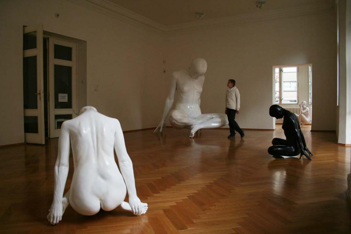 Výstava Davida Moješčíka v galerii Sokolská 26 v Ostravě