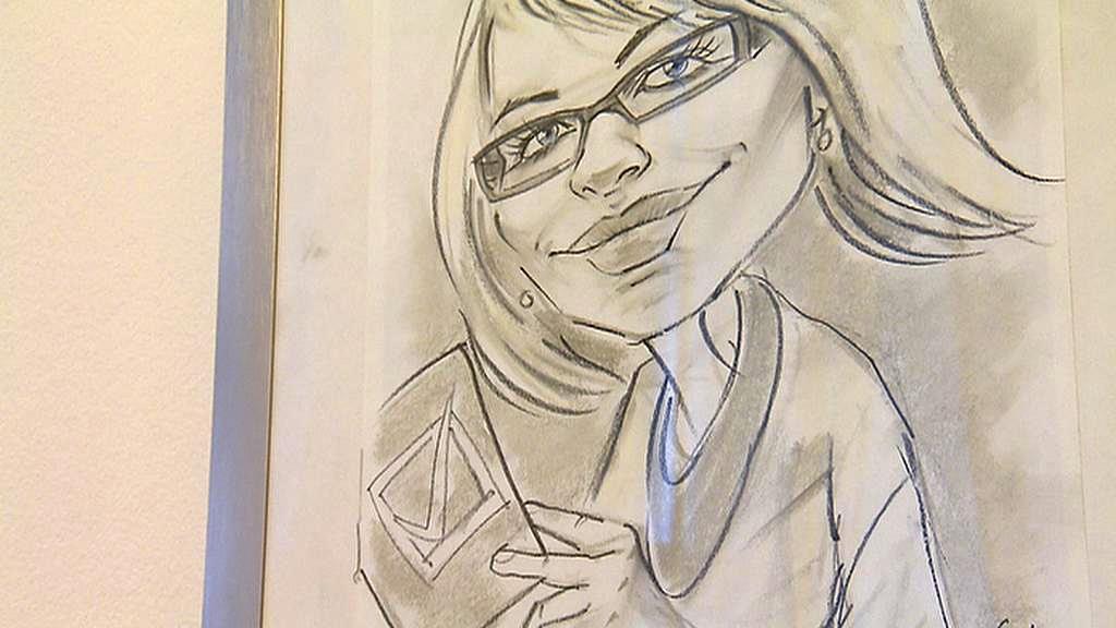 Karikaturní kresba Kristýny Kočí