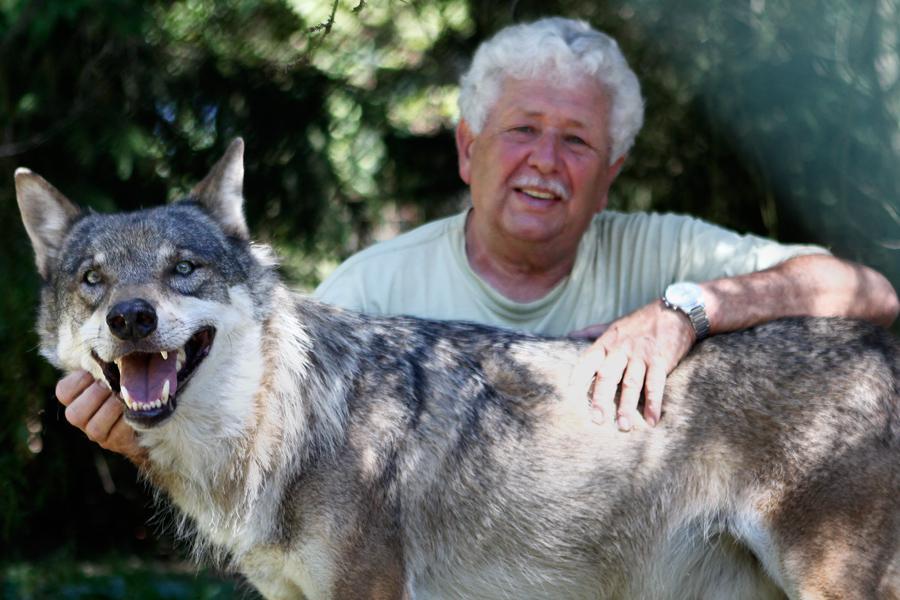 Václav Chaloupek a jeho vlk Žolík