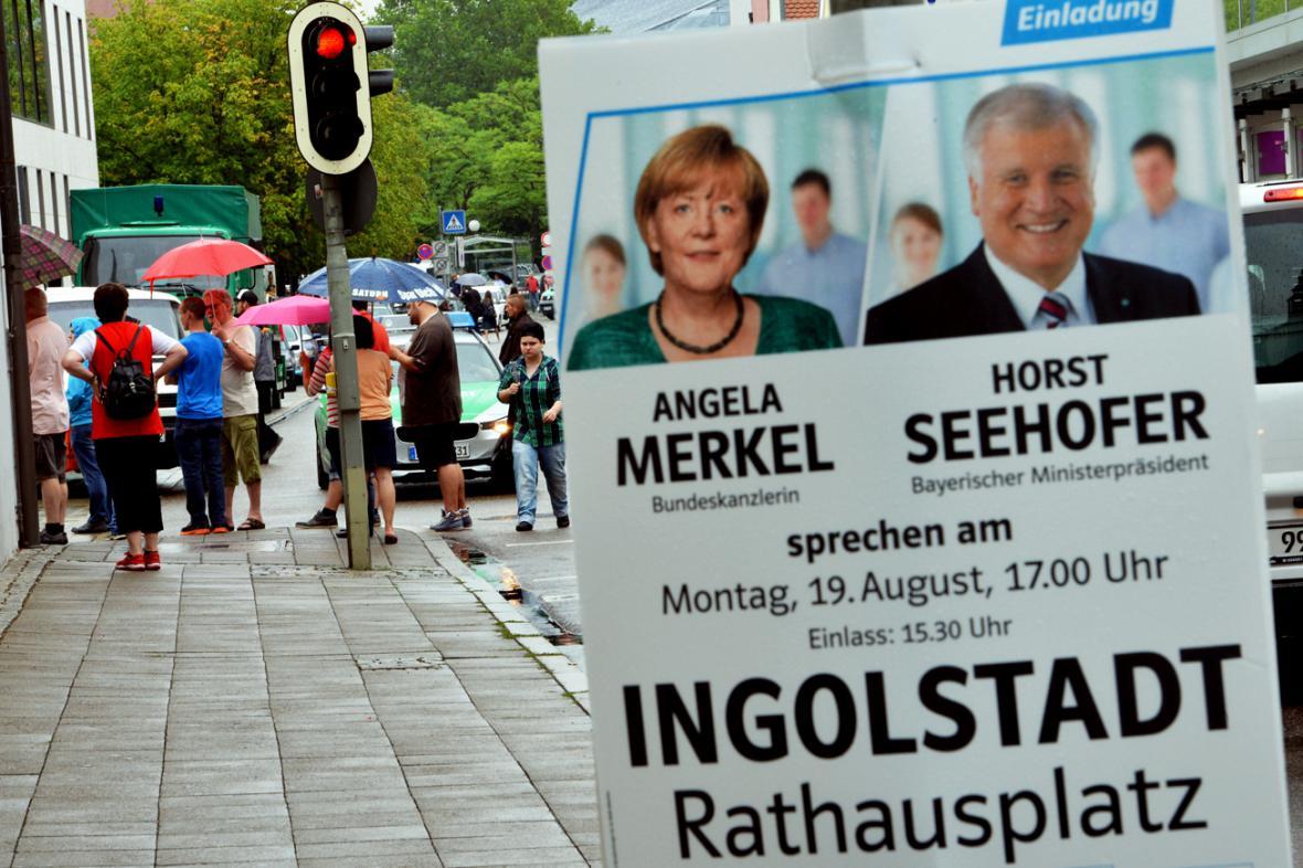 Merkelová odřekla mítink v Ingolstadtu