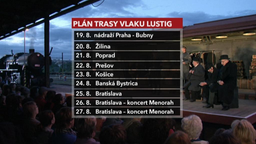 Plán trasy vlaku Lustig