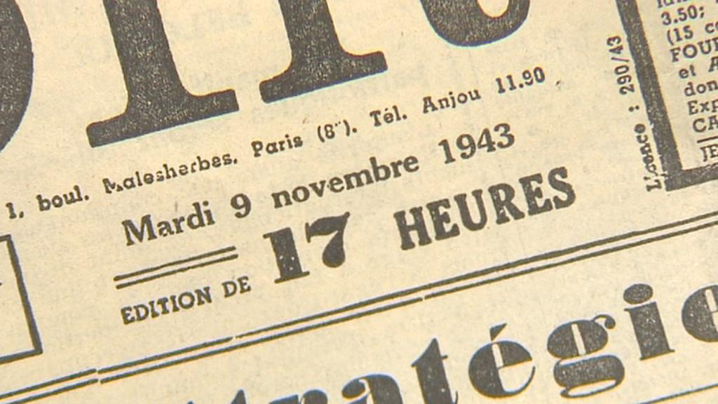 Falešné vydání Le Soir z 9. listopadu 1943