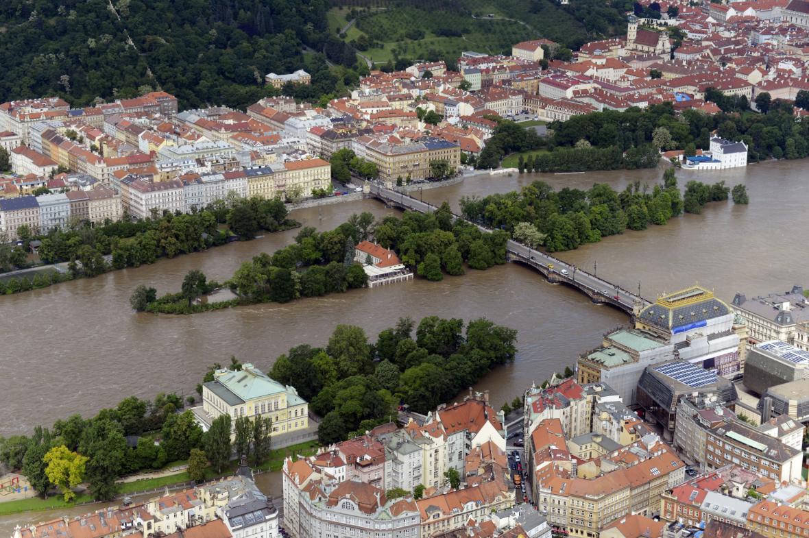 Záplava na pražských ostrovech