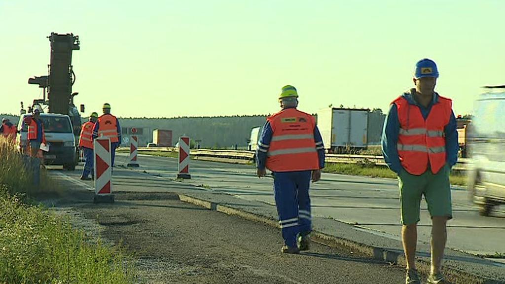 Práce na dálnici