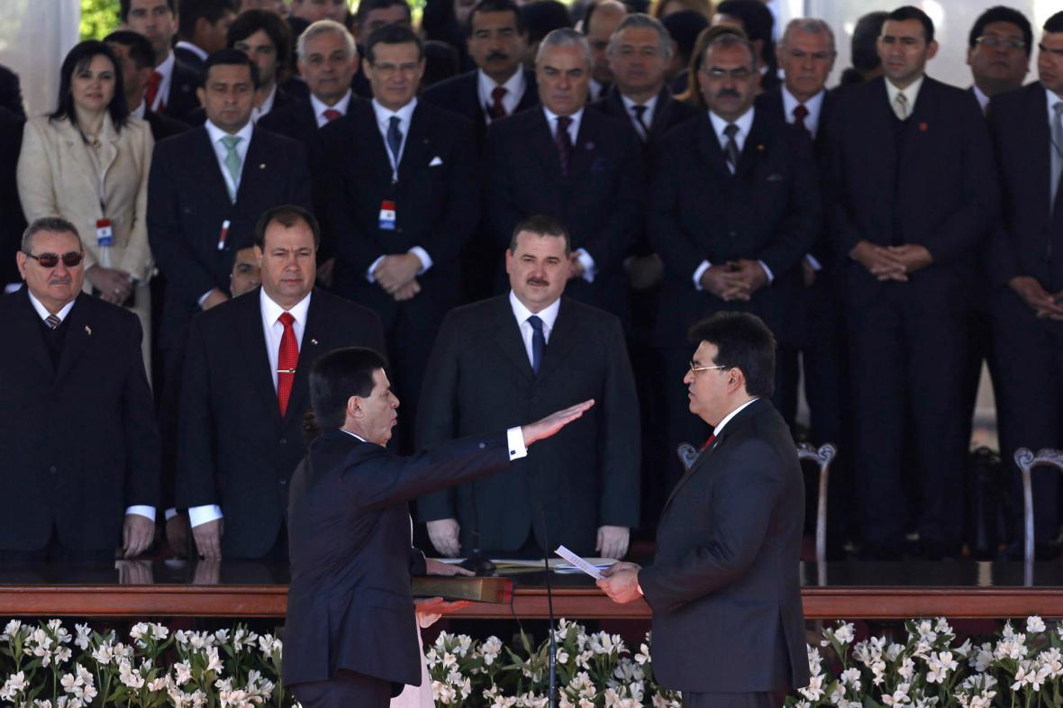 Horacio Cartes se ujímá funkce paraguayského prezidenta