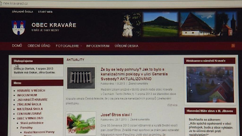 Web obce Kravaře