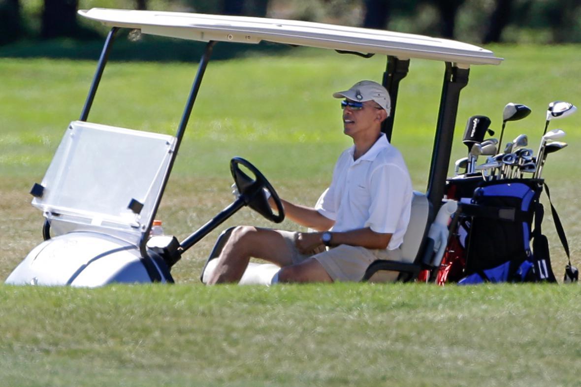 Barack Obama na golfu