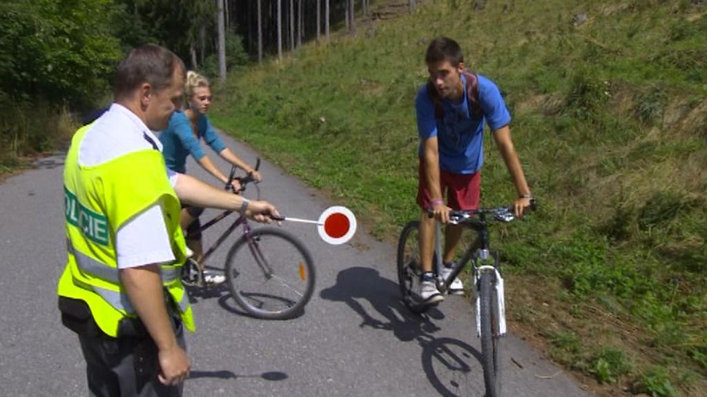 Kontrola cyklistů
