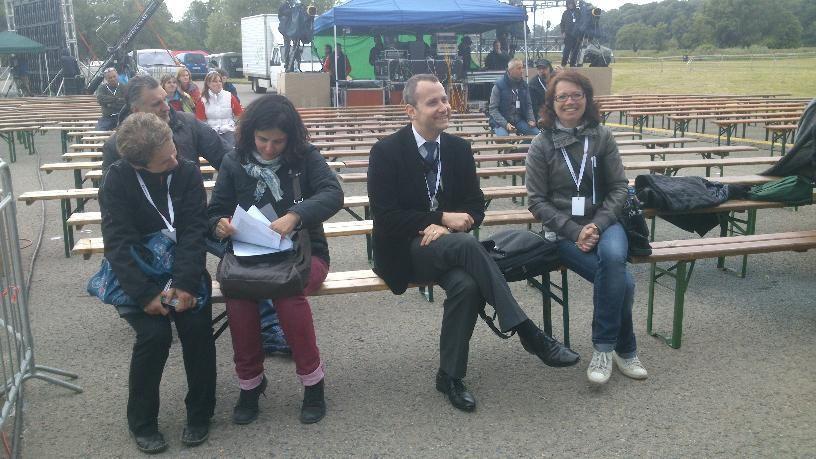 Patrick Diviš s produkcí, natáčení pořadu Cyril a Metoděj (Mikulčice 2013)