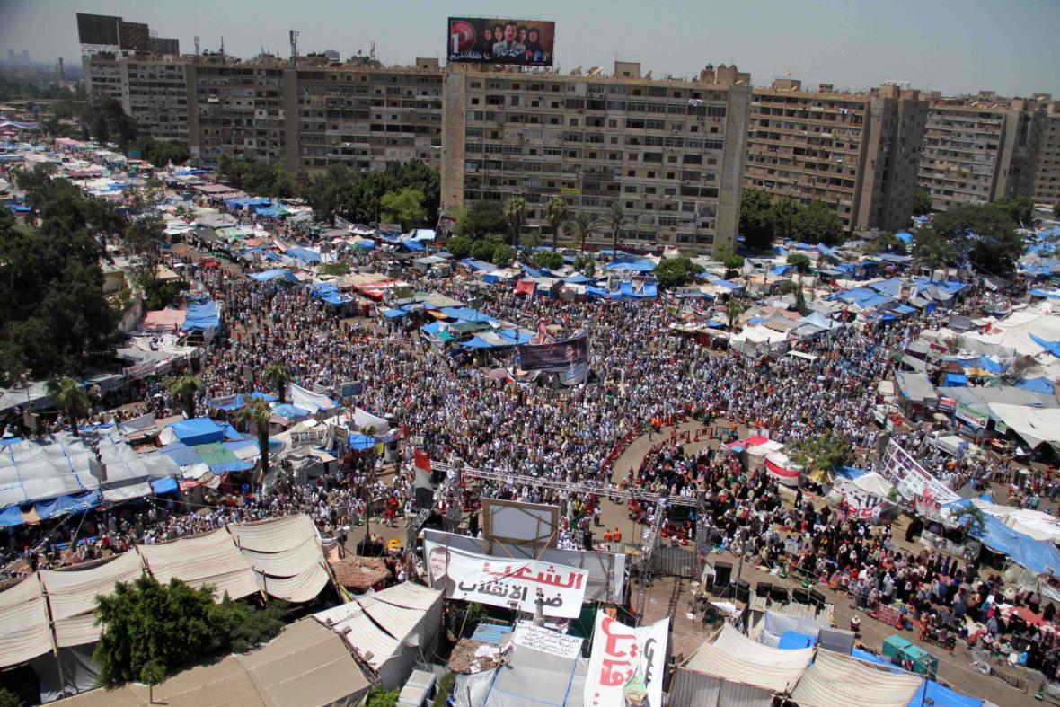 Stoupenci prezidenta Mursího