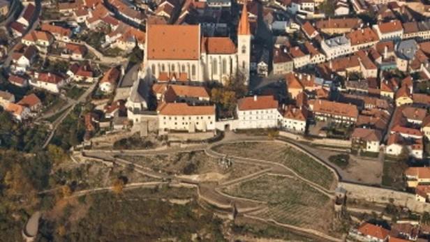 Letecký pohled na Rajskou vinici