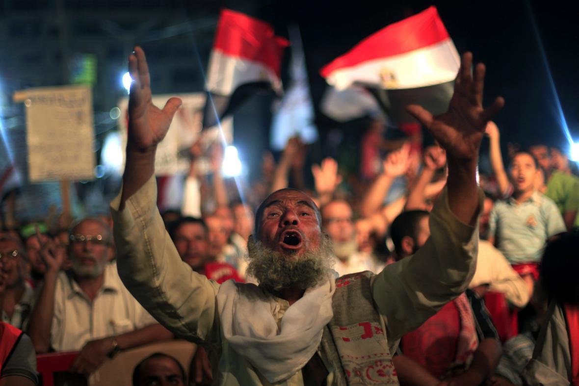 Protest na podporu Mursího