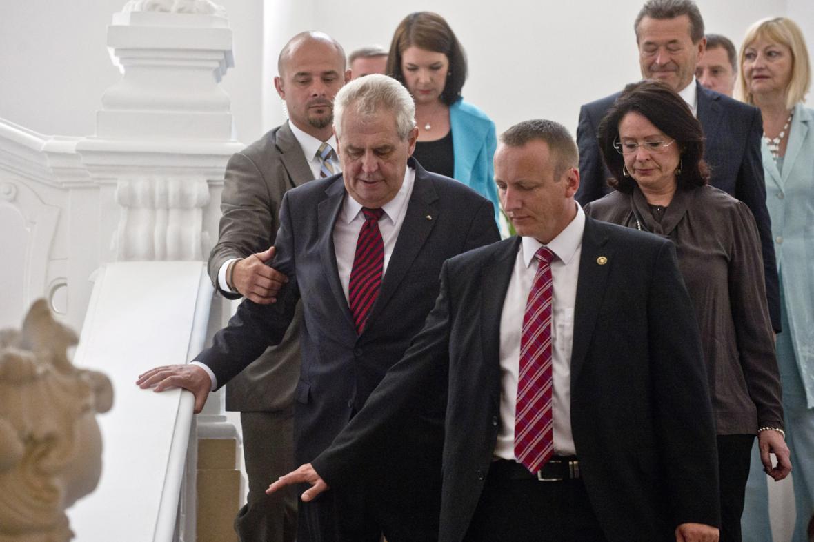 Miroslava Němcová a Miloš Zeman