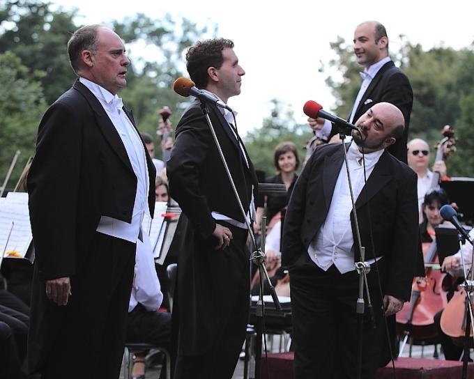Koncert tří tenorů na Janáčkových Hukvaldech