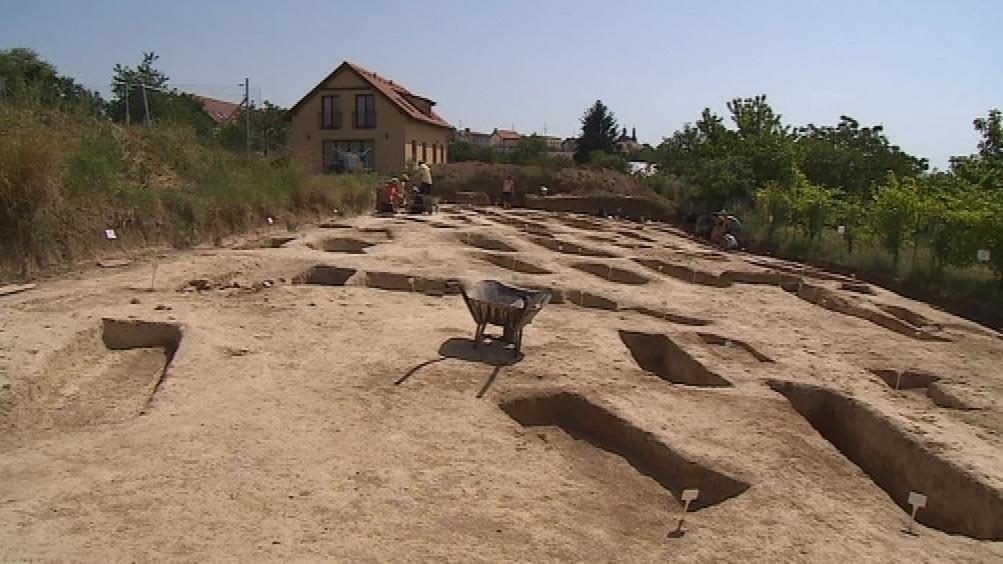 Archeologické naleziště v Hradišti na Znojemsku