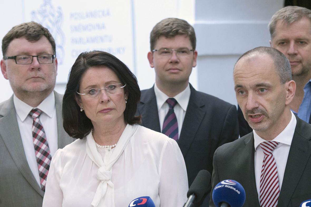 Miroslava Němcová a vedení ODS