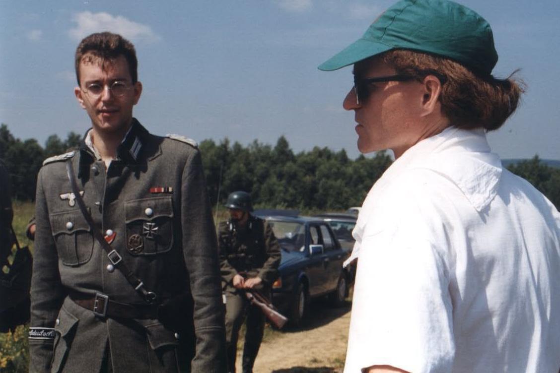 Petr Hvižď při natáčení Stínových vojáků