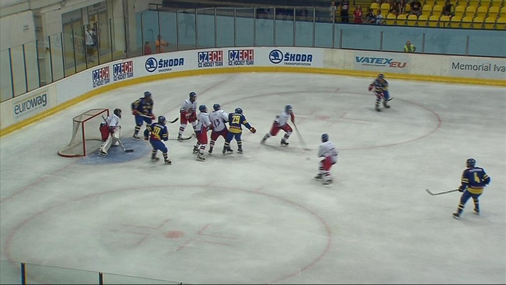 Česká osmnáctka porazila Švédsko 5:2