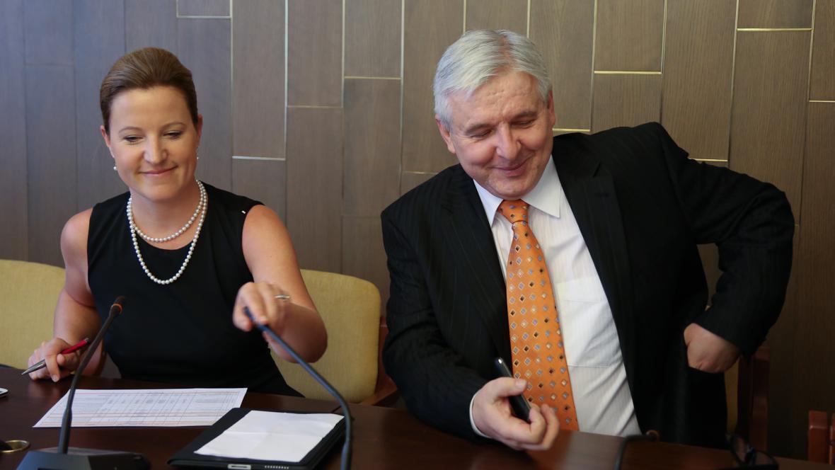 Karolína Peake a Jiří Rusnok