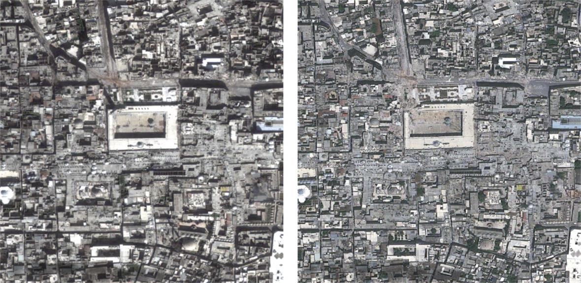 Poničené Aleppo