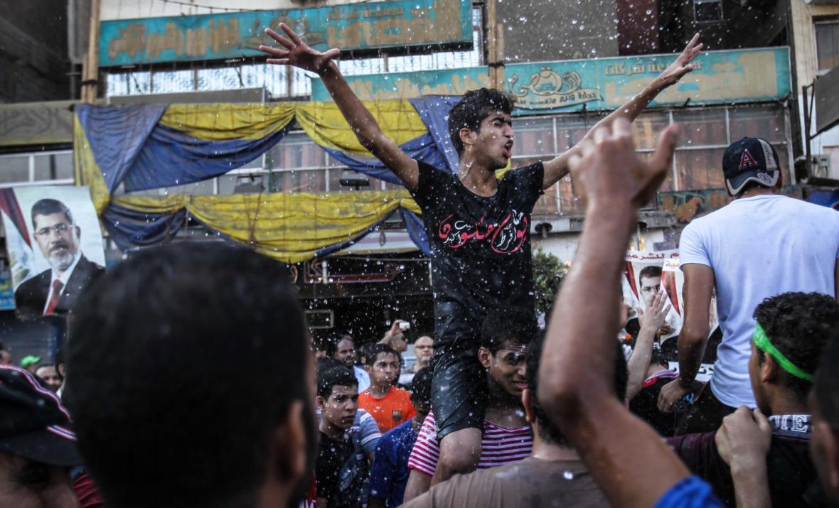 Příznivci sesazeného egyptského prezidenta Mursího