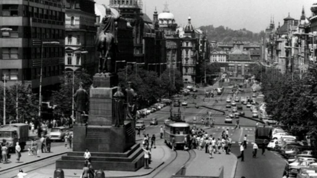Tramvaje na Václavském náměstí